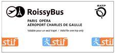 ticket Roissybus llegar a paris