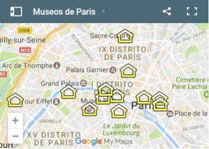 mapa museos paris