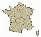 mapa francia paris